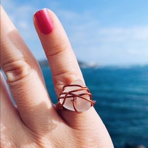 Wire Wrapped Seaglass Ring